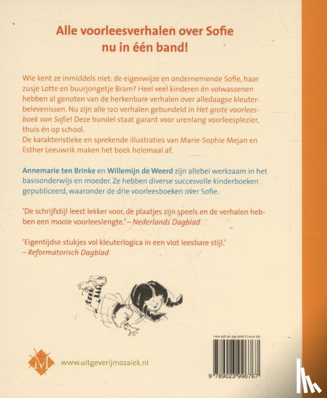 Brinke, Annemarie ten, Weerd, Willemijn de - Het grote voorleesboek van Sofie