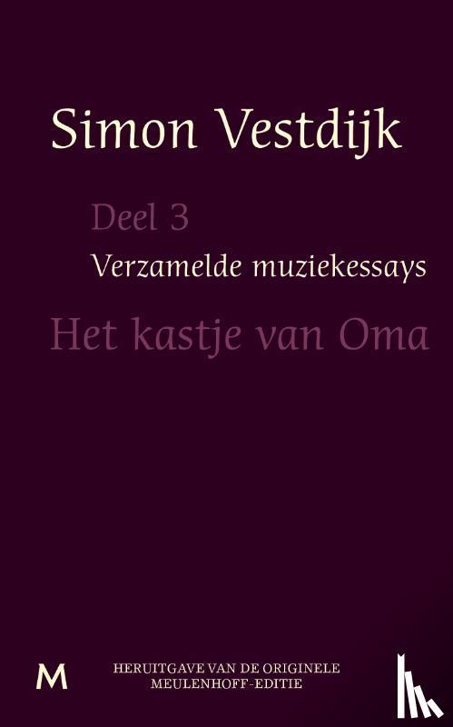 Vestdijk, Simon - Verzamelde muziekessays  Deel 3 - POD editie