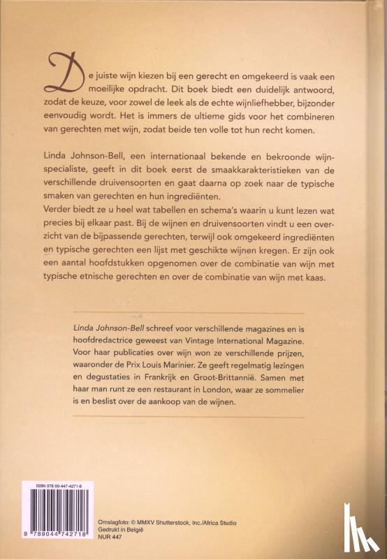 Johnson-Bell, Linda - Wijn en gerechten combineren