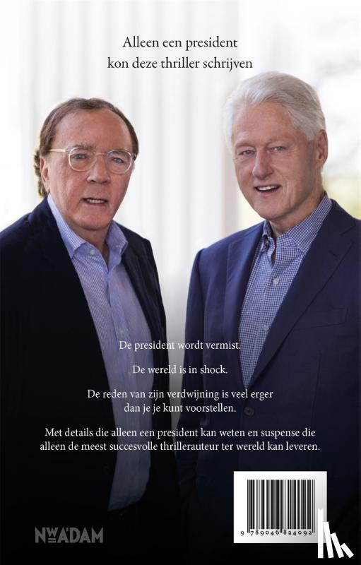 Clinton, Bill, Patterson, James - President vermist