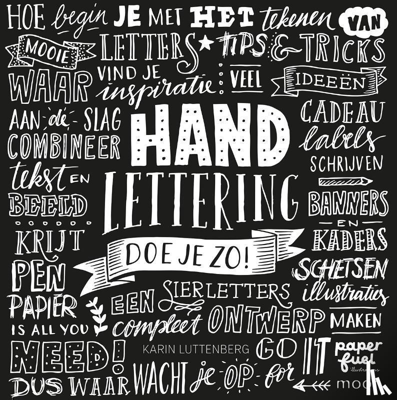 Luttenberg, Karin - Handlettering doe je zo !