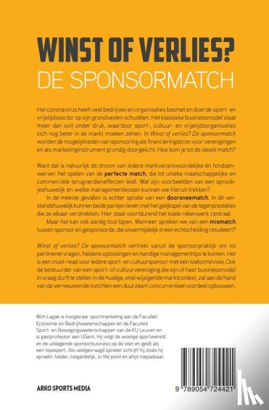Lagae, Wim - WINST OF VERLIES? DE SPONSORMATCH