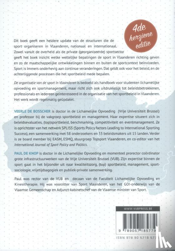 Bosscher, Veerle de, Knop, Paul de - De organisatie van de sport in Vlaanderen