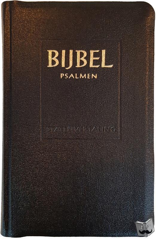 - Major Statenvertaling / Psalmen 12 gezangen zwart kunstleer goudsnee ritmisch / druk 1
