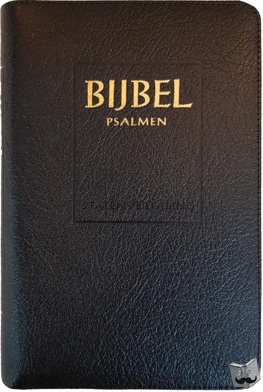 - Bijbel (SV) met psalmen (ritmisch) - met goudsnee, rits en duimgrepen
