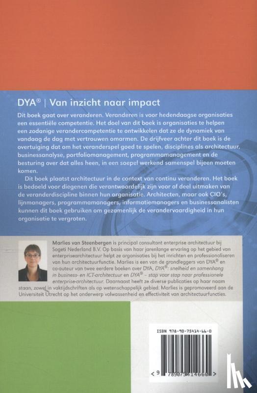 Steenbergen, Marlies van - DYA van inzicht naar impact