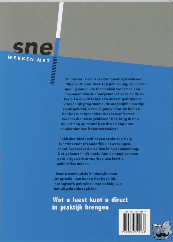 Pott, Jan - Snel werken met Publisher 2000
