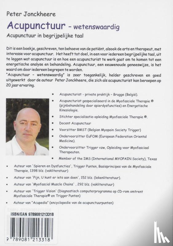 Jonckheere, Peter - Acupunctuur wetenswaardig