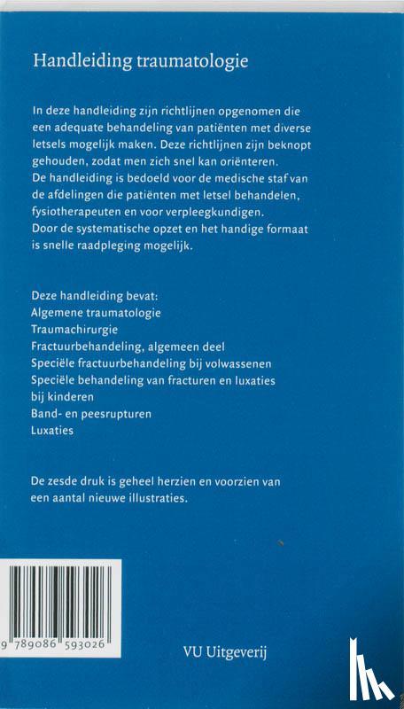Patka, P., Bakker, F.C. - Handleiding traumatologie