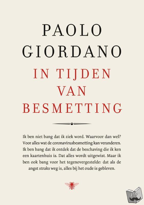 Giordano, Paolo - In tijden van besmetting