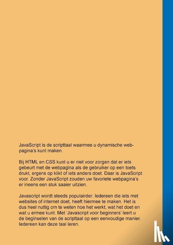Crama, Antoon - JavaScript voor Beginners