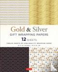Tuttle Publishing - Silver and Gold Gift Wrapping Papers - 12 Sheets