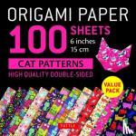 Tuttle Publishing - Origami Paper 100 sheets Cat Patterns 6 (15 cm)
