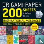 Tuttle Publishing - Origami Paper 200 sheets Inspirational Messages 6 inch (15 cm)