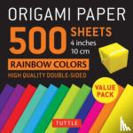 "Tuttle Publishing - Origami Paper 500 sheets Rainbow Colors 4"" (10 cm)"