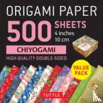 """Tuttle Publishing - Origami Paper 500 sheets Chiyogami Patterns 4"""" (10 cm)"""