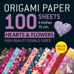 """Tuttle Publishing - Origami Paper 100 sheets Hearts & Flowers 6"""" (15 cm)"""