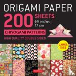 """Tuttle Publishing - Origami Paper 200 sheets Chiyogami Patterns 6 3/4"""" (17cm)"""