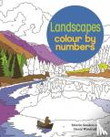 David Woodroffe, Martin (Illustrator) Sanders - Landscapes Colour by Numbers