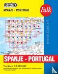 - Falk autokaart Spanje-Portugal routiq 2016-2018, 3e druk atlas met ringband