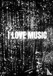 Comfort, Allets - Notenschrift- Notenbalken- I love music (A5) Allets comfort
